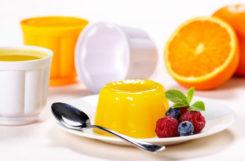 Апельсиновое желе для диабетиков