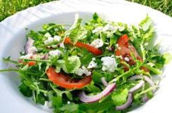 Рецепт салата из рукколы с сыром Фета