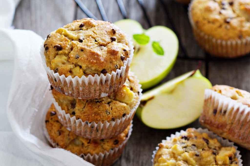Пошаговое приготовление яблочных кексов для диабетиков