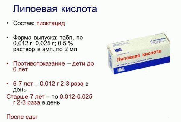 Тиоктацид при диабете