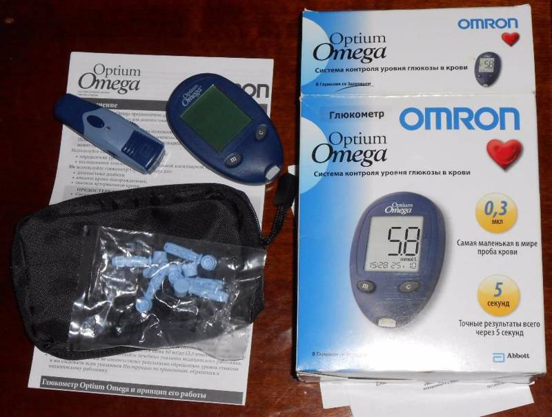 Глюкометр Omron Optium Omega
