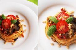 Диетический соус для макарон из баклажанов
