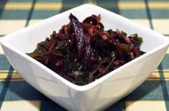 Салат из морской капусты со свеклой для снижения веса