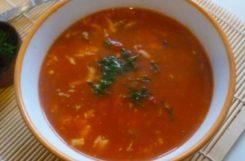 Диетический гречневый суп с томатами и цветной капустой