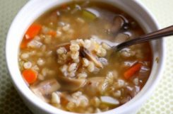 Диетический суп с перловкой и грибами при сахарном диабете