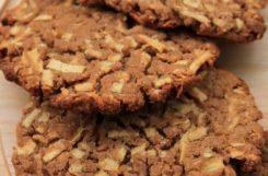 Диетическое печенье из гречневой муки с яблоками