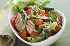 Диетический салат с красной рыбой - вкусно с