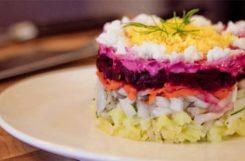 Диетический салат селедка под шубой для диабет диеты