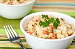 Диетический салат оливье для здорового правильного питания